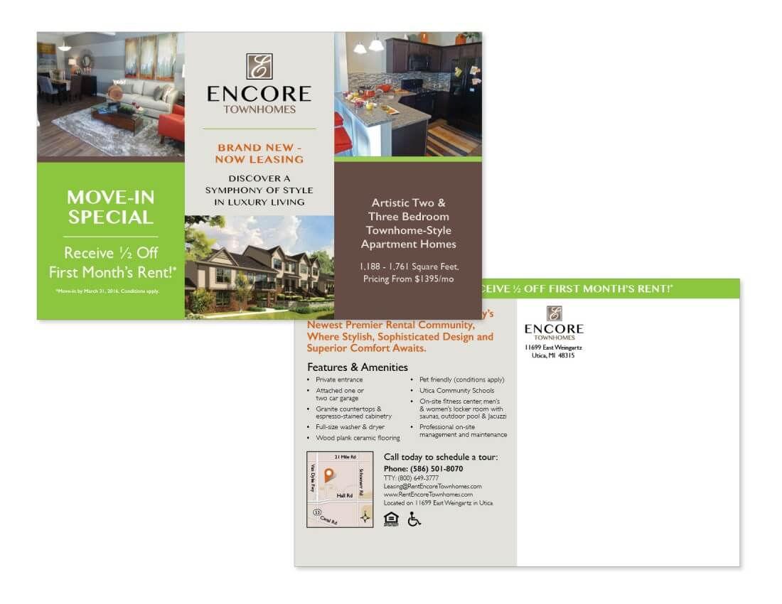 Property Management Marketing Services | Occupancy Solutions LLC - Encore_TH_Postcard